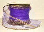 Purple Wired Tulle with Gold Edge (3